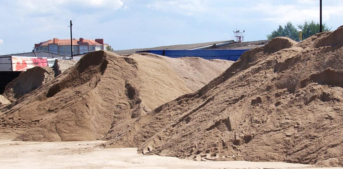 купить песок и гравий